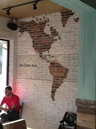 love this idea with exposed brick and the map painted brick wall love this idea with exposed brick and the map painted brick wall was last modified
