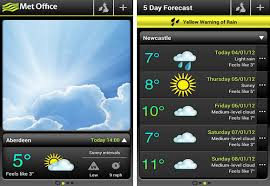 office app for android met office weather application of android