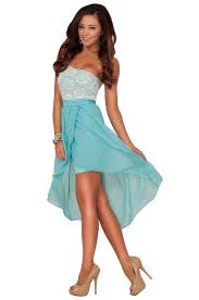one shoulder greek goddess inspired lace high low bridesmaid party