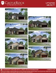 littleton silver home plan by castlerock communities in goose