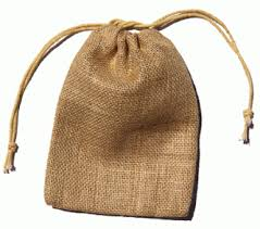 small burlap bags bag small 3 x5 ea