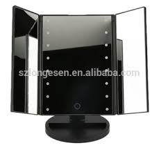 Vanity Makeup Mirrors Beauty 2x 3x Magnification 3 Sides Foldable Led Vanity Makeup
