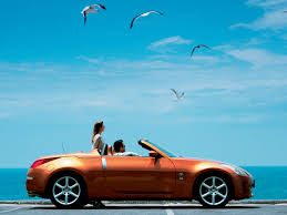 nissan convertible black nissan 350z roadster sunset orange seagulls 1280x960 wallpaper