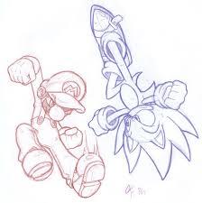 mario sonic coloring pages cartoon mario