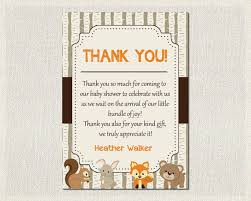 baby shower thank you cards baby shower thank you card boys gender neutral