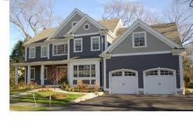 slate blue with gray top white trim i like this combo home