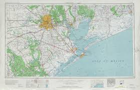 Topography Map Houston Topographic Map Sheet United States 1956 Full Size