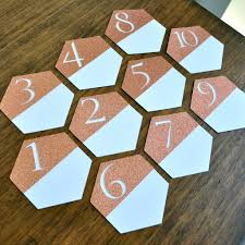 gold wedding table numbers table numbers for wedding geometric wedding decor handcrafted in 1