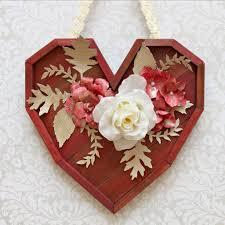 Valentine S Day Flower Decor by Pallet Heart Wall Decor Diy For Valentine U0027s Day Morena U0027s Corner