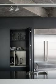 appliance storage black stainless kitchens warner house by