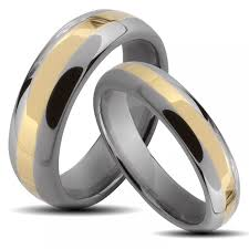 vitalium wedding band matching wedding band sets for his and his hers 4 pcs black