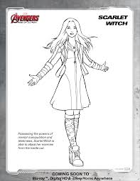 avengers scarlet witch coloring page disney movies