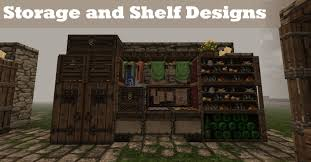 Shelf Designs Minecraft Tutorial Storage Shelf Designs Youtube