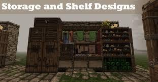 Shelf Designs by Minecraft Tutorial Storage Shelf Designs Youtube