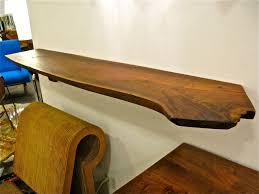 Live Edge Wood Shelves by Freeform Wooden Shelf At 1stdibs