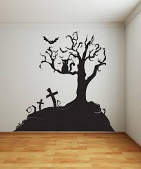 39 halloween wall decals halloween vinyl wall decal bare tree set vinyl wall decal sticker halloween tree 1014s by stickerbrand