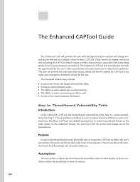 part ii captool user guide costing asset protection an all