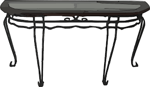 Dining Room Table Clipart Black And White Decorative Metal Table Clip Art At Clker Com Vector Clip Art