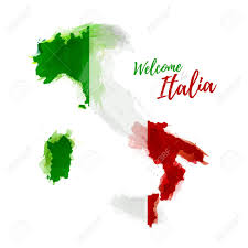 The National Map Symbol Poster Banner Italia Map Of Italia With The Decoration