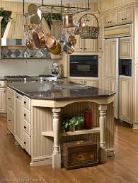 Kitchen Island Country Country Cottage Kitchen Brown Beadboard Kitchen Island