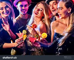 woman disco night club cocktail party stock photo 676006261