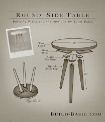 Build A End Table Plans by Build A Round Side Table U2039 Build Basic