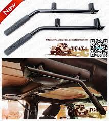 jeep wrangler grips oem steel bar back cab roof grab handles for jeep