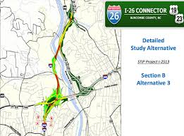 interstate 26 map mapping the future the i 26 connector plans in maps and charts