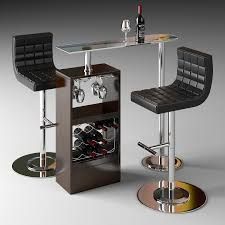 3d model chair bar counter cgtrader