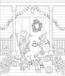 trick or treat coloring pages halloween pumpkin coloring pages