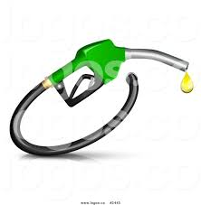 royalty free green fuel nozzle with a gassoline droplet logo by