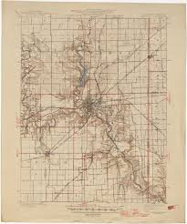 Indiana Road Map Indiana Historical Topographic Maps Perry Castañeda Map
