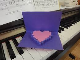 zelda pop up valentine heart card 5 steps with pictures