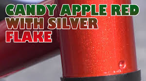candy apple red with silver flakes youtube