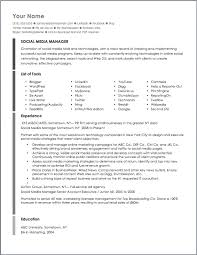 social media marketing resume sle free resumes tips