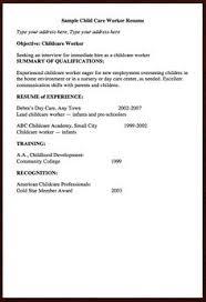 sample resume for daycare worker samples of cover letter for fresh graduates http resumesdesign