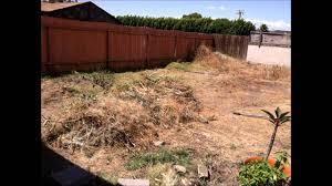diy backyard before u0026 after southern california youtube