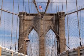 Brooklyn Flag File New York City Brooklyn Bridge Manhattan Side Tower 0025