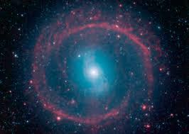 galactic wheel of life shines in infrared nasa