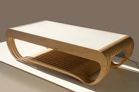 Plywood Coffee Table Led Interactive Coffee Table Ripple Sneakhype