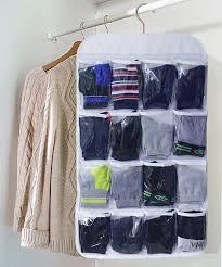amazon com honla dual sided hanging closet organizer with 18