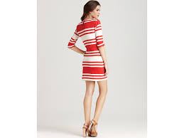 french connection dress jag stripe in red lyst
