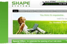 website homepage design shape systems web design website design coventry