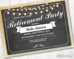 retirement announcement retirement invites etsy