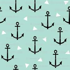anchor tri mint nautical baby nursery edgy