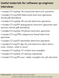Qa Sample Resumes by Top 8 Software Qa Engineer Resume Samples