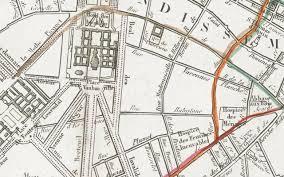 Map Of Paris France Historical Map Horse Omnibus Lines Of Paris Transit Maps