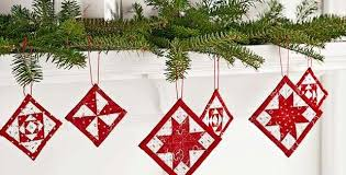 mini quilt ornaments for cheer quilting digest