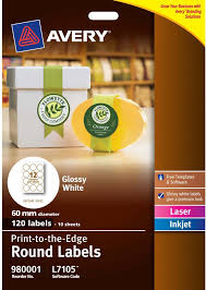 avery glossy white round labels l7105 10 avery online singapore