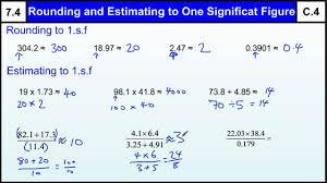 7 4 rounding u0026 estimating one significant figure basic maths core